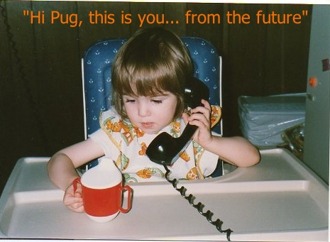 baby ctina on a phone